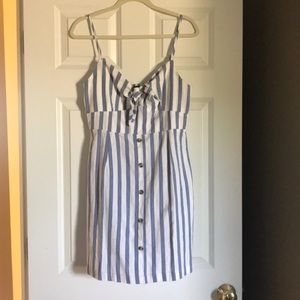 Blue and white striped sundress- never worn!